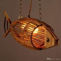 Bamboo Wood Light Originality Fish Pendant Lamp Retro ...