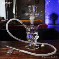 2018 Glawaer Cool Skull Head Hookah Small Shisha Glass ...