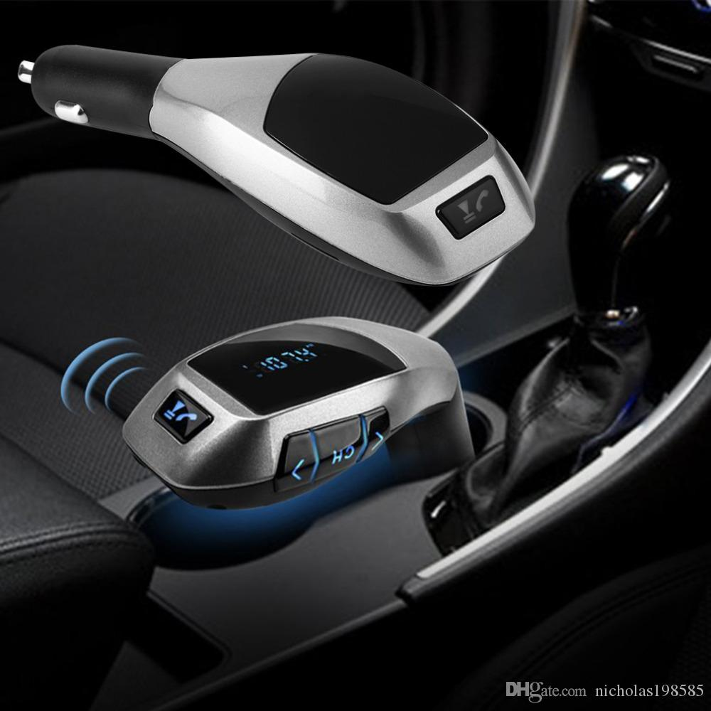 hight resolution of newest bluetooth handsfree fm transmitter x5 car kit mp3 music player radio modulator adapter work with tf card vs bc06 t10 t66 bt66 car kit bluetooth car