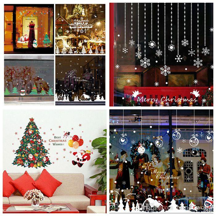 diy christmas window stickers removable wall stickers marry