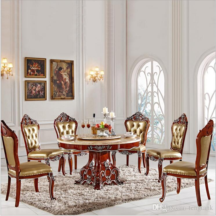 dining table set 6 chairs cheap bean bag 2019 antique style italian 100 solid wood italy luxury with pfy2001 from tengtank 2269 35 dhgate com