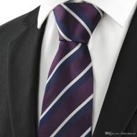 Ties Men Neckties Striped Tie For Men Navy White Plum ...