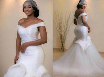 Elegant Off Shoulder Mermaid Wedding Dresses 2016 Ruffle ...