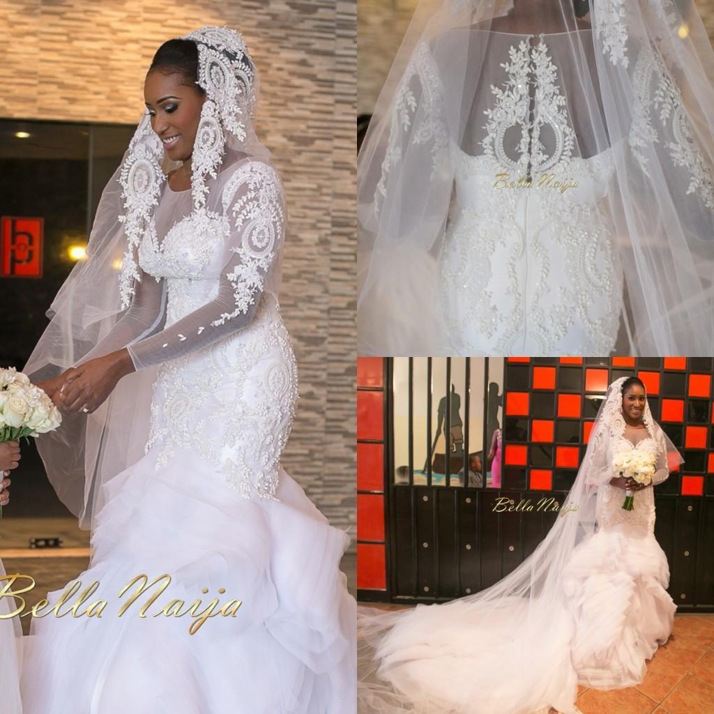 Amazing Bellanaija Nigerian Wedding Dresses Sheer Long Sleeves Major Beading Ruffles Mermaid