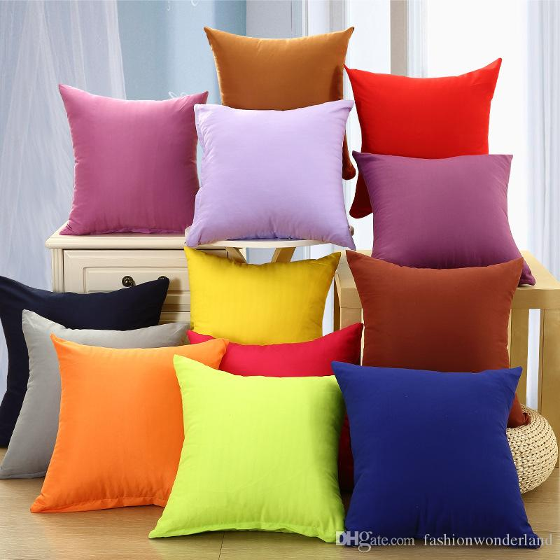 chair cushion cover beach lawn chairs 12 styles wholesale candy color sofa covers red yellow green purple pillow baby home decoration 45x45cm gift lounge pads