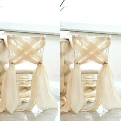 Fancy Chair Covers For Sale Swivel West Elm 2017 Simple Beach Wedding 2016 New Chiffon Sash