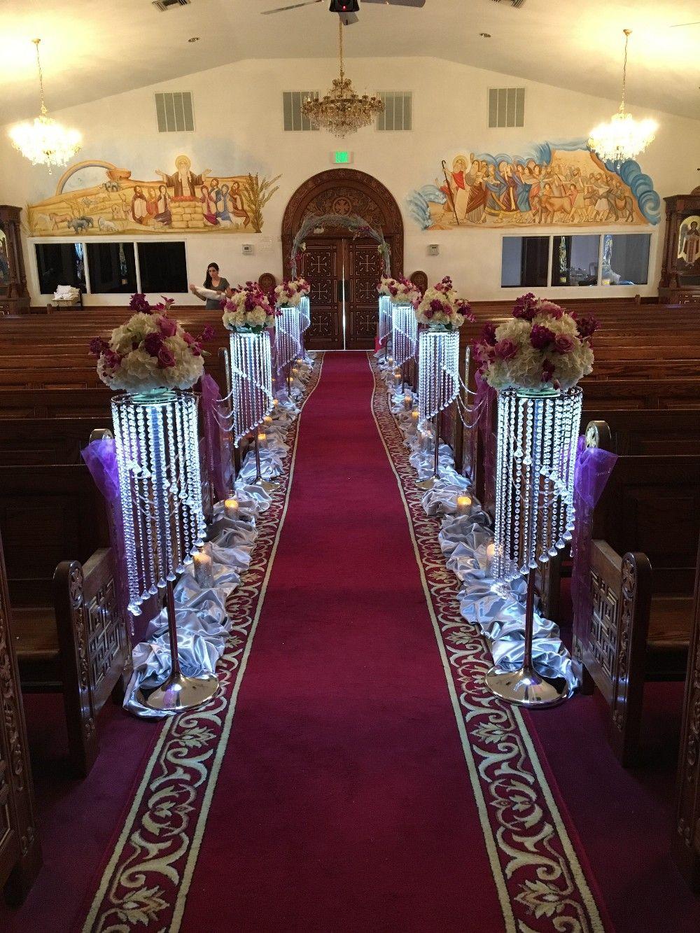 2016 Luxury Crystal Wedding Flower Stand Walkway Wedding