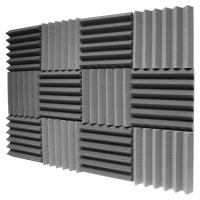 12 Pack - Charcoal Acoustic Foam Sound Absorption Studio ...