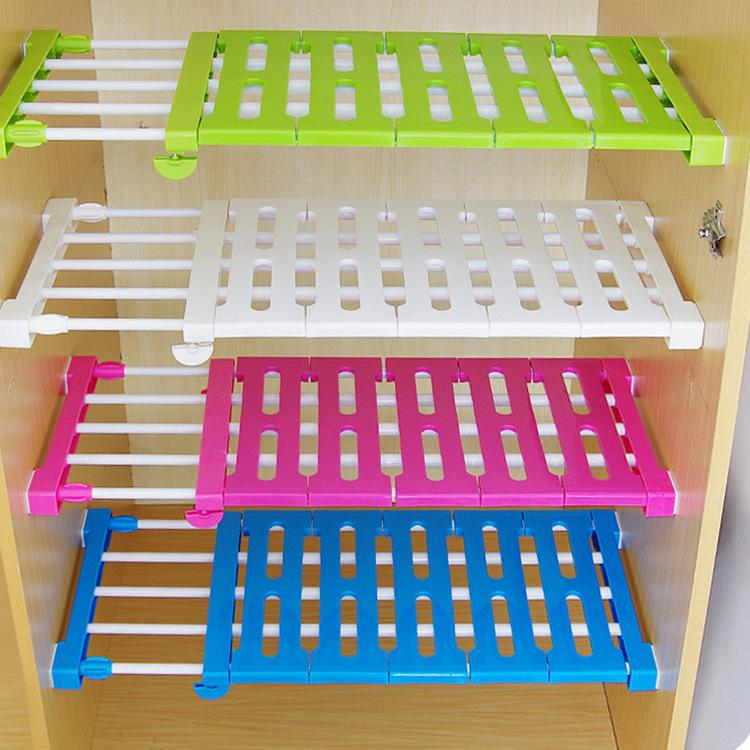 kitchen organizer french cabinets wardrobe storage layered separator upgrade scalable partition shelves nail free holders racks online with