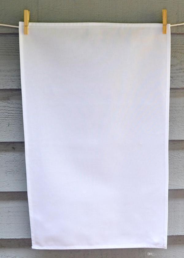 2019 Plain White Tea Towel Blank Cotton Canvas