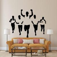 Five Athletes Wall Stickers Living Room Bedroom Office ...