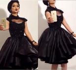 Black Lace Homecoming Dresses 2016 High Neck Keyhole Bust
