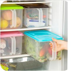Wholesale Kitchen Cabinets Woburn Ma 2019 Container Stackable Storage Box With Handles Rice Holder Refrigerator Covered Bucket He131 From