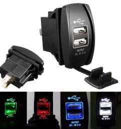 2018 3 1a 12 24v led backlit rocker switch dual usb charger car rh dhgate com atv winch rocker switch wiring diagram atv rocker swi [ 1200 x 1200 Pixel ]