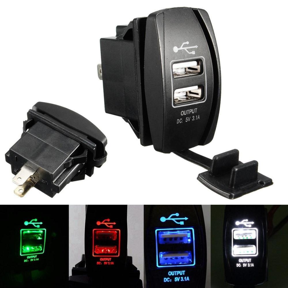 medium resolution of 2018 3 1a 12 24v led backlit rocker switch dual usb charger car rh dhgate com atv winch rocker switch wiring diagram atv rocker swi