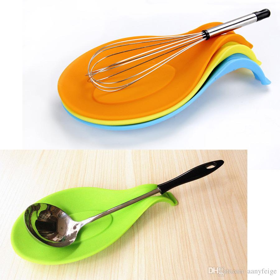 kitchen spoon rest brushed stainless steel undermount sink 2019 mix color creative holder tomato sauce silicone utensil spatula cooking tool from aanyfeige 1 03 dhgate