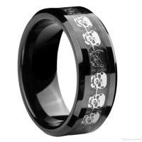 2018 Queenwish 8mm Infinity Black Tungsten Carbide Ring ...