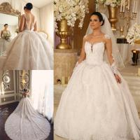 Discount Classy Lace Backless Wedding Dresses With Sheer ...