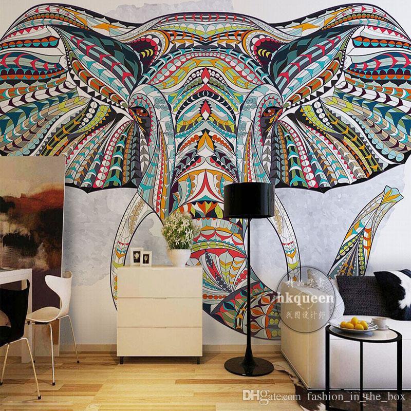 wallpaper decoration for living room artwork custom 3d walls animal totem photo bedroom decor tv background wall covering mural elephant