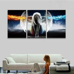 Nice Artwork Living Room Modern Rustic Decor 2019 Printed 3 Panel Canvas Wall Art Angel Wings Painting Beautiful Anime Picture For Home Bedroom Prints From Anhonestseller