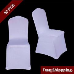 Chair Covers For Folding Chairs Rent Design Cardboard White Polyester Spandex Wedding Cover Ceremony Event Hotel Banquet Seat New Universal Size Sash Rental