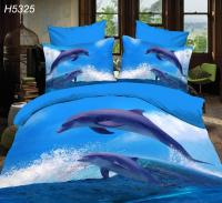 Jumping Dolphin Bedding Sets 3d Hd Bed Linen Digital Bed ...