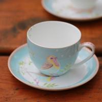 2018 Cute Bird Bird Coffee Cup And Saucer Set / British ...