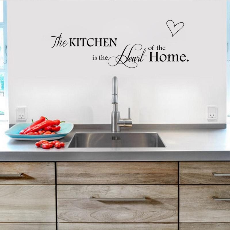 wholesale kitchen closet organizers is the heart of home decoration creative quotes wall decal stickers poster mural girls graffiti