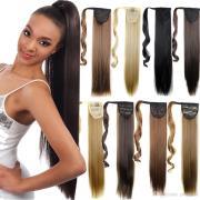 fake ponytail hairstyles fade