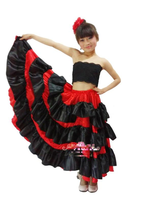 2019 Kid' Flamenco Dance Dress Girl Dresses