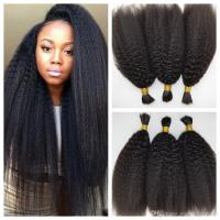 Peruvian Afro Kinky Straight Human Braiding Hair Bulk No