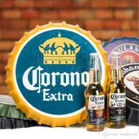 Beer Bottle Cap Decorative Metal Plate Plaque Vintage Pub ...