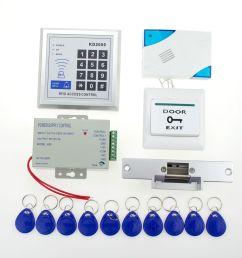 wholesale full rfid door lock access control 3000users keypad kit electric nc electric strike lock power button door bell key card [ 1000 x 1000 Pixel ]