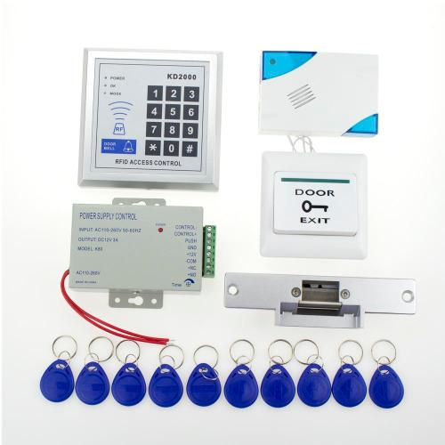 small resolution of wholesale full rfid door lock access control 3000users keypad kit electric nc electric strike lock power button door bell key card