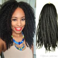 18 Afro Kinky Marley Braid Curly Hair Extension 100 Grams ...