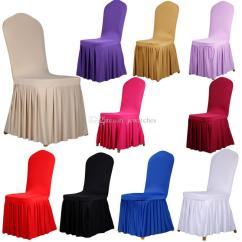 Chair Covers Party Hire Peacock Color Universal Spandex Dining Home Weddings Decoration And Ottoman Slipcover Set To From
