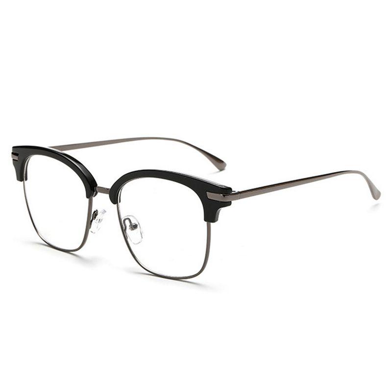 2019 D.King Classic Half Frame Glasses Oversized Round
