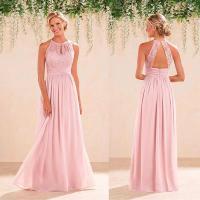 2017 Pink Halter Bridesmaid Dresses Vintage Lace A Line ...