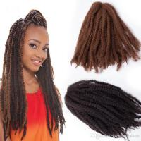 2018 Afro Kinky Curly Twist Marley Braid Hair Extension ...