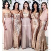 Modest Blush Pink Beach Wedding Bridesmaid Dresses With ...
