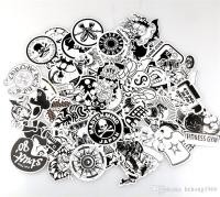 Personality Scrawl Stickers Black And White Cartoon Doodle ...