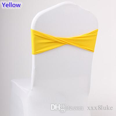 yellow spandex chair sashes mia moda high pink colour lycra sash for cover bands bow tie wedding decoration banquet design sale