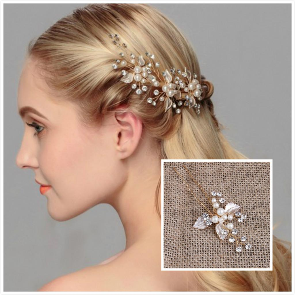 2019 exquisite wedding hair jewelry pearls u pins bridal head pieces bridal hair accessories party hair decoration from janet2011 2 52 dhgate com