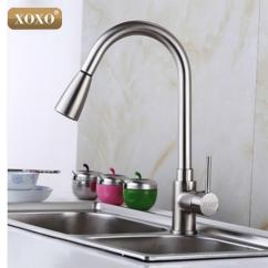 Pull Out Spray Kitchen Faucet The Home And Store 2019 Wholesale Xoxo Deluxe Mixer Tap Pullout Sprayer Satin Nickel Brushed Brass Material 83011s From Hobarte