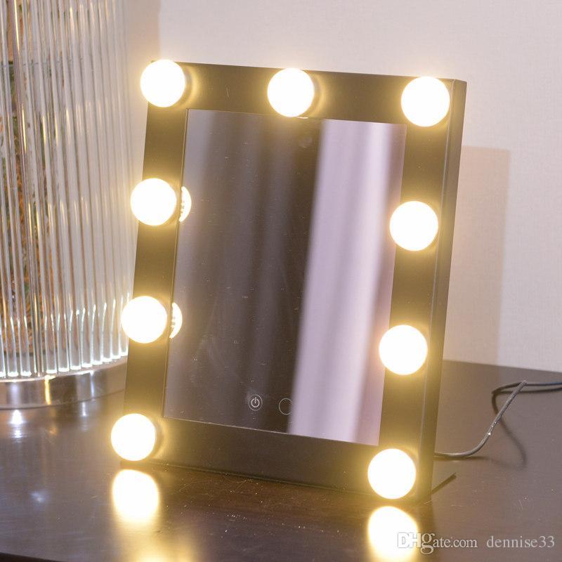 acheter 2017 vente chaude led ampoule vanite allume hollywood maquillage miroir avec dimmer stage beauty mirror de 60 9 du dennise33 dhgate com