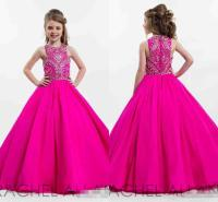 Hot Pink Sparkly Princess Ball Gown Girl'S Pageant Dresses ...
