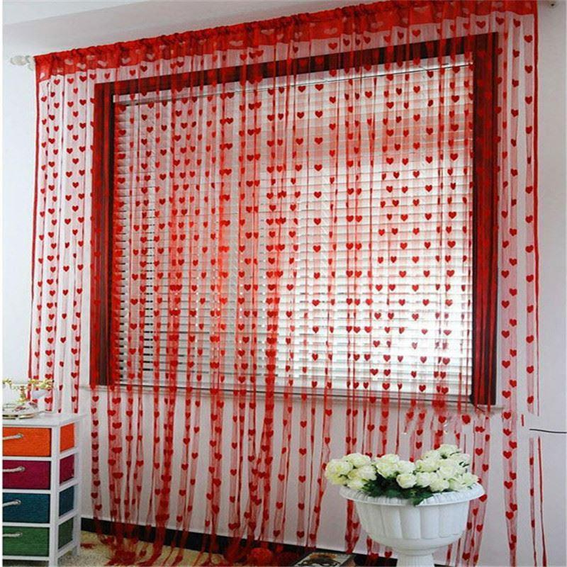cheap kitchen curtains used commercial equipment chicago home 200cm x 100cm silk string curtain blinds window door divider sheer valance high quality curtai china