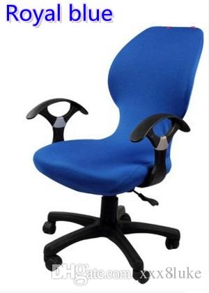 office chair covers to buy neutral posture guardian royal blue colour lycra computer cover fit for with armrest spandex decoration wholesale rent