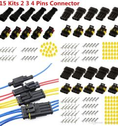 2019 2 3 4 pins way sealed waterproof electrical wire connector plug car auto 15 kits from haopengfei88 9 33 dhgate com [ 1024 x 1024 Pixel ]