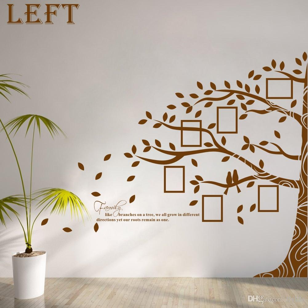large vinyl family tree photo frames wall decal sticker vine branch